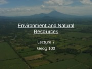 Lecture7_Environment and Natural Resources