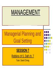 S7-Robbins ch5-Planning and Goals Setting