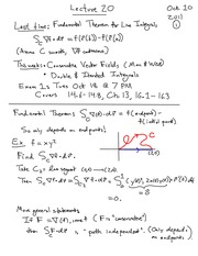 MATH 114 Fundamental Theorem for Line Integrals Notes