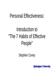 7 Habits of HIghly Effective People... Introduction