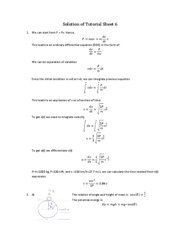 tutorial sheet 6 solutions