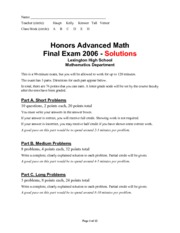 advmath-hon-finalexam2006-answers
