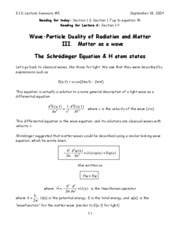 5-Wave Particle Duality of Radiation and Matter