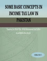 4.+Some+Core+Concepts+to+Income+Tax+Law+in+Pakistan
