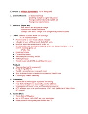 Examples of Synthesis, SWOT, goals and objective from prior semesters (1)
