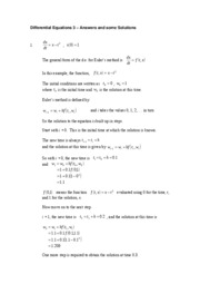 Diff Eqs 3 solutions