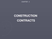 Ch. 4 Construction Contracts