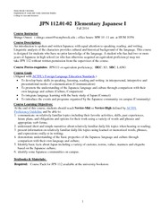 JPN 112 2014 fall Syllabus