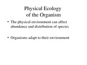 Lecture 9-10-Physical Ecology