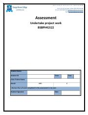 Assessment-Undertake project work BSBPMG522.doc