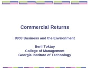 Commercial returns