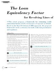 The Loan Equivalency Factor for Revolving Lines of Credit in Commercia.pdf