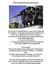 WW1 Memorial Proposal Project