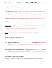 WORKSHEET 3 Roman Complete