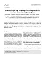 4-Analytical Tools and Databases for Metagenomics in the Next-Generation Sequencing Era.pdf