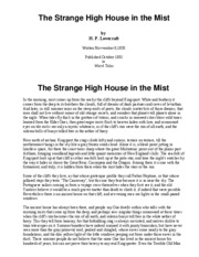 thestrangehouseinthemist
