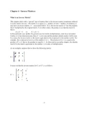 Chapter 6 - inverse matrices