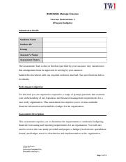 BSBFIM601 Manage finances.docx