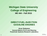 Solomon Direct Fuel Injection 2014