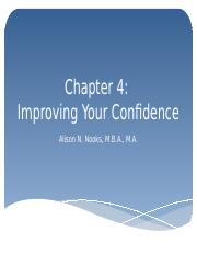 Chapter 4 Improving Your Confidence.pptx