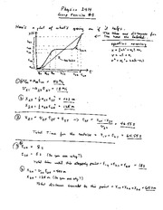 Homework C Solutions on Physics For Life Science Majors
