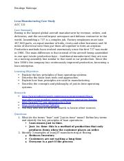 Lean Manufacturing Case Study (1)