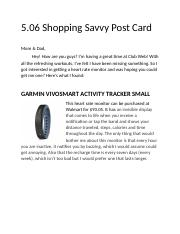 5.06 Post Card Shopping savvy.docx