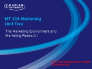 MT 219 Marketing Unit 2 Seminar