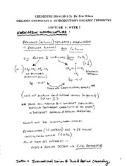 CHEM 281 2011-3 Lecture Notes 9 - WEEK 3