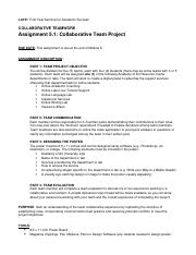 M5 Team Collabrative Project Directions