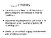Ch 5 Elasticity