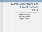 Moral Deliberations and Ethical Theories- jan 28th