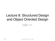 Lecture 8 Structured Design for Methods and Modules