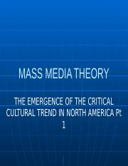 The Emergence of the Critical Cultural Trend in North America Pt 1.pptx