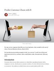 Predict Customer Churn with R - Towards Data Science.pdf