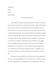 essay 1 reflection journal