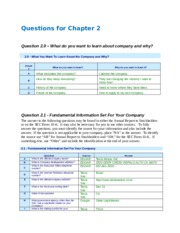 Questions for Chapter 2