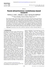 Week 5 - Little et al 2011 Facial attractiveness - evolutionary based research