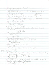 Notes Directs Current CIrcuits and Current Division