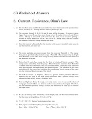 Soln6 - Current Resistance and Ohm_s Law