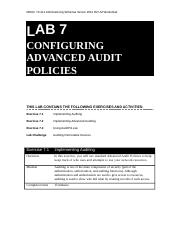 Lab Worksheet Lesson 07 Configuring Advanced Audit Policies