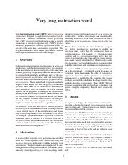 Lecture 2 - Reading - Very long instruction word.pdf