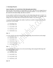 L&T Infotech Aptitude Exam-Reasoning Section Paper5