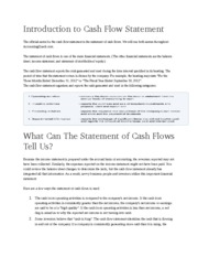 Introduction to Cash Flow Statement