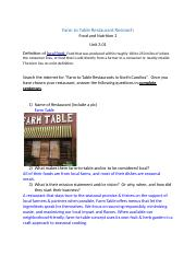 Farm to Table Restaurant Research Project.docx