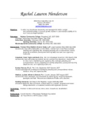RESUME - LEGAL ASSISTANT