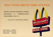 mcdonald,project Quality Assurance assigment