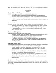 Government Ch 20 and 21 Notes
