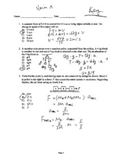 PHYS 116a Exam II w/ answers