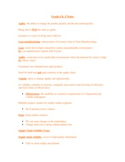 Goods Exam 2 Notes